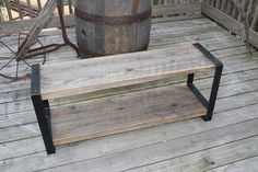Reclaimed wood bench Entertainment center by ReclaimedWoodUSA