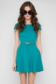Learn to Skate in Teal Dress $28