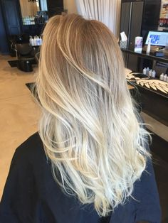 Blonde hair ombré. Long hair. Ash blonde. Sombre. Follow me on IG @ stylist.dana
