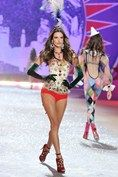 """Alessandra Ambrosio- ilates and yoga three times a week, and intense 10-day sessions of the Brazil Butt Lift class, devised by her trainer. """"It isn't hard to stay in shape,"""" Ambrosio told Vogue's Sarah Harris. """"I think I'm in better shape now than I was 10 years ago, but it takes a bigger toll – I get back pain!"""""""