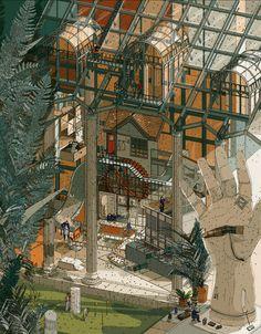 Sculpture Garden I - Doug John Miller