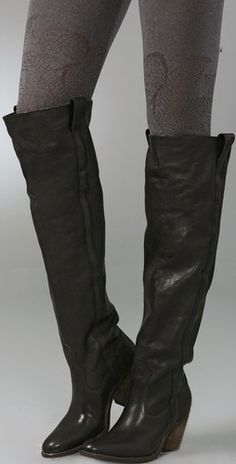 black boots w/a bit of cowboy style