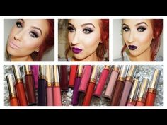 I WANT THEM ALL! Anastasia Of Beverly Hills Liquid Lipstick Lip Swatches & Review - YouTube I want one!