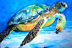Loggerhead Sea-turtle Print