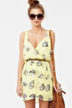 fresh cut chiffon dress -- nasty gal