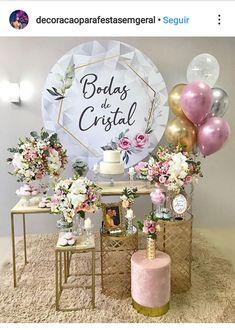 Girl Birthday Decorations, Balloon Decorations, Ideas Aniversario, Dusty Rose Wedding, Event Planning Business, Geometric Wedding, Wedding Reception Decorations, Anniversary Parties, Birthday Balloons