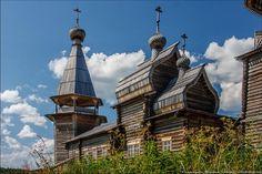 Pochozersky church. Detail. Arkhangelsk region