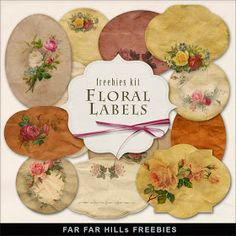 Far Far Hill: Freebies Kit of Vintage Style Labels