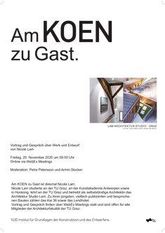 ARCH - Am KOEN zu Gast. To Study, Graz, Concept, Architecture