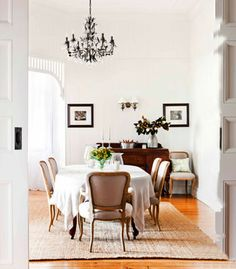 I've always fantasised about one day owning a Queenslander. Those breezy wide verandah's, high ceilings and touches of period detail that g. Elegant Dining Room, Dining Room Design, Dining Rooms, Dining Area, Grafton House, Queenslander House, Australian Homes, Colorful Furniture, Inspired Homes
