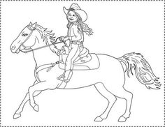 free coloring pages the little cowgirl coloring page - Cowgirl Pictures To Color