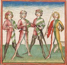 Elisabeth <Nassau-Saarbrücken, Gräfin, 1393-1456> Herpin — Stuttgart (?) - Werkstatt Ludwig Henfflin, um 1470 Cod. Pal. germ. 152 Folio 16v