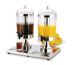Focus Beverage Dispenser Kpw9502 Beverage Juice Dispenser Dual Bowl 2 5 Gallon Capacity Each