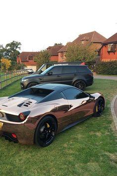 cool Rose Gold Ferrari...  Hot rides Check more at http://autoboard.pro/2017/2016/12/30/rose-gold-ferrari-hot-rides/