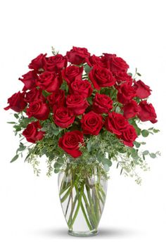 Send a message deep from your heart with this stunning display of beautiful roses designed with seeded eucalyptus or similar accents in an elegant clear glass vase.    #roses #love #anniversary #flowers #engaged #wedding #part Funny Valentine, Roses Valentine, Valentines Day, Buy Roses Online, Send Flowers Online, Rose Delivery, Flower Delivery, Red Rose Bouquet, Wedding Ceremony Flowers