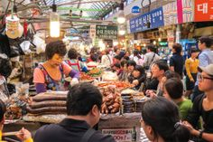 Korea: Seoul Food Market is World Class Korean Street Food, Korean Food, Chanel Lipstick Price, What Do Cows Eat, Nissan Gtr Black, Living In Korea, Baby Birthday Cakes, Outdoor Food, South Korea