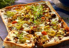Pizza Recipes, Snack Recipes, Snacks, Quiches, Savory Tart, Cookie Do, Sugar And Spice, Lchf, Deli