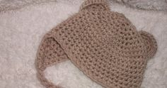 Free Crochet Patterns and Designs by LisaAuch: Free Crochet Pattern for Baby Beanie with Earflaps and Ears
