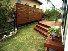 庭 ウッドデッキ 木製 ウリン材 Privacy Fences, Pergola Designs, Porch Swing, Outdoor Furniture, Outdoor Decor, Deck, House Design, Wood, Interior