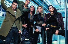 8 Kendall Jenner, Gigi Hadid and Jourdan Dunn by Mario Sorrenti for Balmain x H&M's Print Campaign