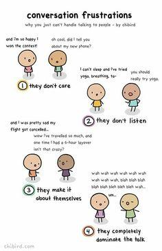 Conversation frustrations