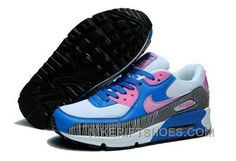 new styles f5ace d7a7c Nike Air Max 90 Womens White Blue Pink Super Deals Qmchf, Price   74.00 -  Nike Rift Shoes