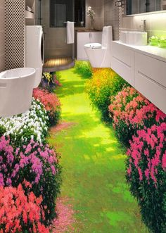 Best Garden Decorations Tips and Tricks You Need to Know - Modern Floor Murals, Floor Art, Wall Murals, Graffiti Painting, Mural Painting, Floor Wallpaper, Wallpaper Murals, Summer Wallpaper, Yurts