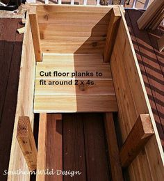 how to build nice planter boxes economically container gardening gardening how to raised garden beds woodworking projects - Planters - Ideas of Planters Cedar Planter Box, Wood Planter Box, Window Planter Boxes, Wooden Planters, Raised Planter Boxes, Deck With Planter Boxes, Flower Boxes Deck, Building Planter Boxes, Elevated Planter Box