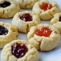 Gluten Free Almond Thumbprint Cookies from Posh in Progress | Bob's Red Mill