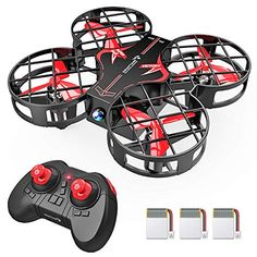 Buy SNAPTAIN Plus Portable Mini Drone for Kids, RC Pocket Quadcopter with Altitude Hold, Headless Mode, Flip, Speed Adjustment and 2 Extra Batteries securely online tod. Drones, Drone Quadcopter, Mode 3d, Rc Drone With Camera, Mini, Drone Technology, Best Black Friday, Flip, Autos
