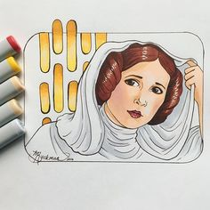 I realize everyone is drawing one of these but I couldn't help creating my own... Star Wars played an iconic roll in my childhood and Carrie's portrayal of the strong independent Princess Leia definitely left an impression on my young heart. Like many other little girls, I wanted to grow up and be just like her. So here's my small tribute to an inspiring actress and person gone too soon. ❤ . . #art #artist #canadianillustrator #fanart #fanarts #carriefisher #carriefisher🙏 #starwars #tribute…