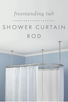 You'll feel like you've walked into a 5-star hotel when you install this elegant Oval Shower Curtain Rod over your free-standing bathtub. Perfect for a clawfoot tub, whirlpool or spa, this elliptical shower rod includes three ceiling supports and matching flanges for a beautiful installation.