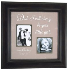 Father of the Bride Picture Frame Gift, Parent Wedding Thank you Gift, Dad I will Always Be Your Little Girl, Daddy ( 16 X 16 ). $89.00, via Etsy.