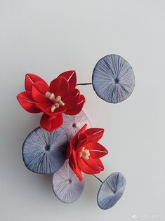 Flower Diy, Diy Flowers, Chinese Hairpin, Qing Dynasty, Mobiles, Diy Fashion, Hair Pins, Headpiece, Dream Catcher