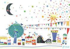 Amusement Park Art by Jill McDonald Design