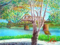 Birch at Beaver Bridge. Pastel on Paper. Home Art, Birch, Bridge, Pastel, Artwork, Painting, Cake, Work Of Art, Auguste Rodin Artwork