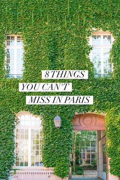 Heading to Paris and want to make sure you don't miss any of the best things? Tired of seeing lists of the same touristy recommendations over and over? Here are 8 *unique* things you MUST Do while in Paris, France!