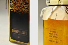 Orange Jam Label by Honosi Rita, via Behance