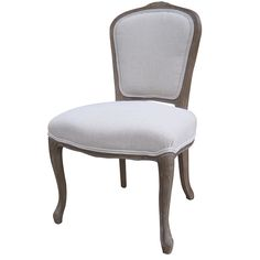 "Clara Dining Chair  20%linen/30%polyester  24"" W x 24"" D x 39"" H  Finish/Color(s): Bespoke Natural/Ww, Gibson Seal/Whitewash"
