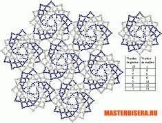 Бисерные схемы салфеток  Beads, beads and again beads