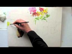 A Bunch of flowers watercolor by Jan Pastor Part 1 Watercolor Tips, Watercolor Flowers Tutorial, Watercolor Beginner, Watercolor Tutorials, Watercolor Paintings Abstract, Acrylic Painting Tutorials, Beginner Painting, Painting Videos, Watercolor Techniques