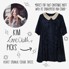 To celebrate holiday season, each week a WHITEPEPPER girl will pick their Christmas pick from our Winter '13 collection!!   This week it's lovely Kim, blogger at Love Cloth, selecting the Velvet Spangle Dress! See more in our Xmas gift guide! http://www.thewhitepepper.com/collections/twp-gift-guide #thewhitepepper #christmas #giftguide #fashion #velvet #dress #blogger