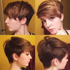 Pixie cuts are great, they are very easy to style look cool and cute at the same time. If you have curly hair or very fine hair texture these pixie cuts are perfect for you, just browse our gallery for the perfect hairstyle! Pixie Hair for Fi Easy Short Haircuts, Cool Short Hairstyles, Short Hair Styles Easy, Girl Haircuts, Hairstyles Haircuts, Summer Hairstyles, Short Hair Cuts, Curly Hair Styles, Ladies Hairstyles