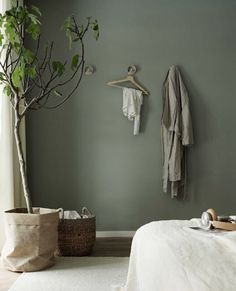 Sage Green Paint Colors That Bring Peace And Calm Your Home - Modern Room Colors, Bedroom Decor, Kitchen Decor Apartment, Home Living Room, Bedroom Colors, Bedroom Green, Bedroom Interior, Interior, Home Decor