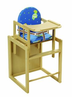 Trona Convertible en Mesa Pupitre Silla Escritorio Bebe Infantil Madera Tortuga