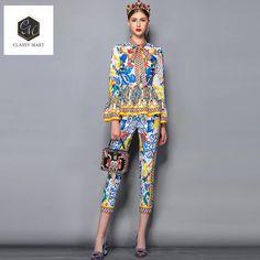 3afd22fb07282d Fashion Runway Pants Suit Sets Women's
