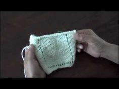 Dos agujas: calculando cuántos  puntos montar y cuántas hileras tejer