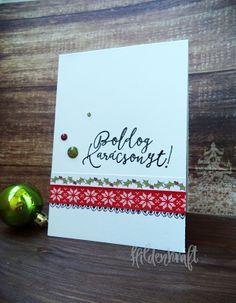 CAS Christmas card DIY