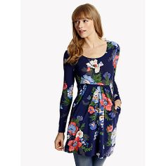 Buy Joules Alexi Floral Tunic Dress, Navy Bouquet Online at johnlewis.com