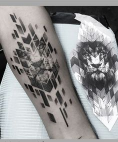Leading Tattoo Magazine & Database, Featuring best tattoo Designs & Ideas from around the world. At TattooViral we connects the worlds best tattoo artists and fans to find the Best Tattoo Designs, Quotes, Inspirations and Ideas for women, men and couples. Geometric Lion Tattoo, Abstract Tattoo Designs, Geometric Tattoo Design, Tattoo Abstract, Mandala Tattoo, Leo Tattoos, Body Art Tattoos, Small Tattoos, Tattoos For Guys
